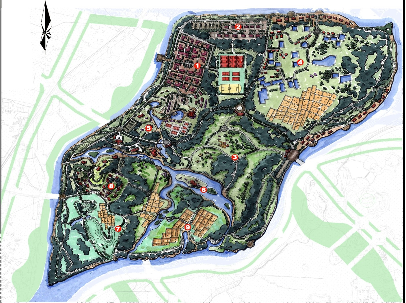 MASTERPLAN - White Stone Lake Park - Quinzhou, China